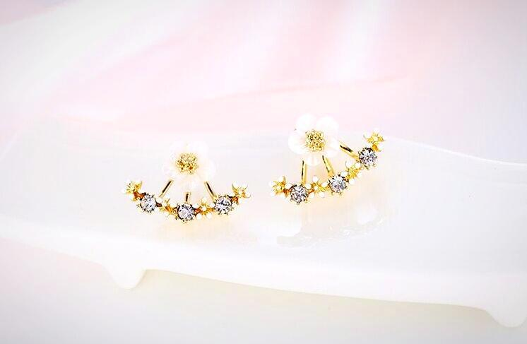 Flower Stud Several Peach Blossoms Earring