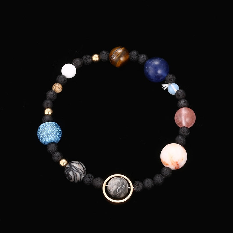Universe Galaxy The Eight Planets Star Bead Bracelet
