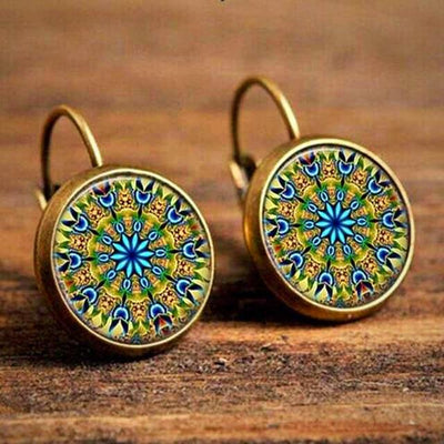 Patterned Drop Earrings