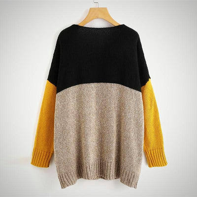 Multicolor Knitted Jumper Sweater