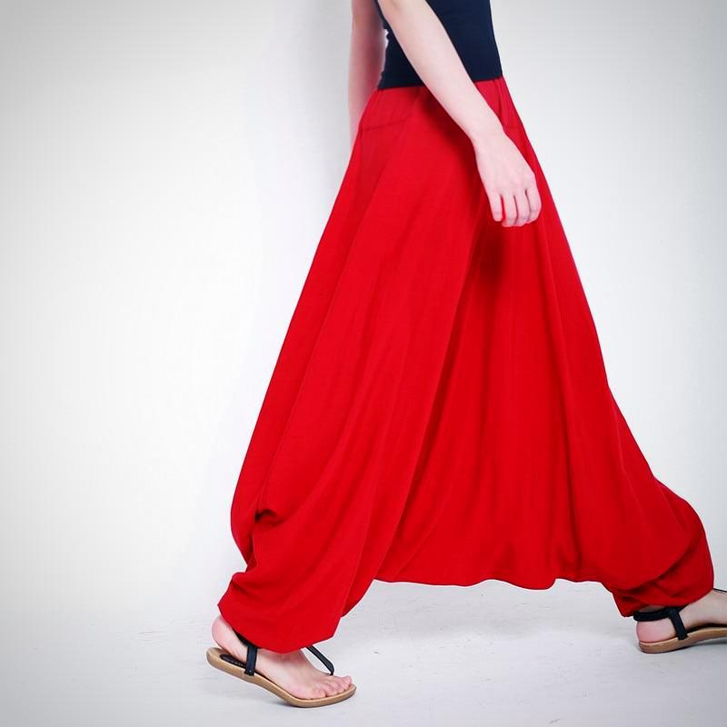 Plus Size Casual Loose Harem Wide Leg Pant