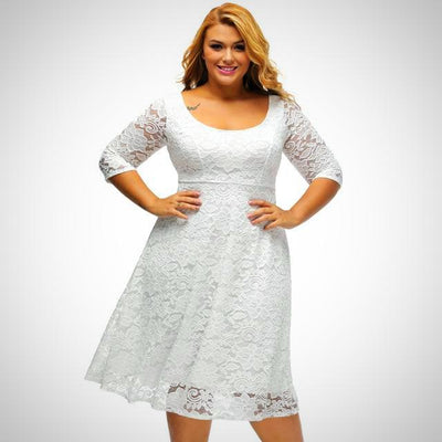 White Lace Dress For Female