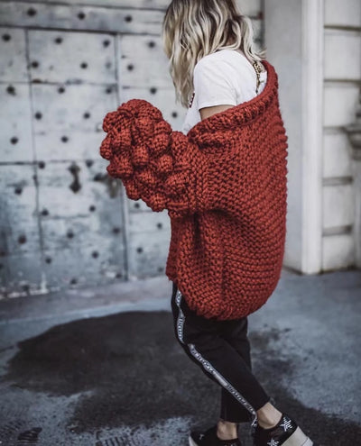 Cotton Hand Knitted Thick Sweater