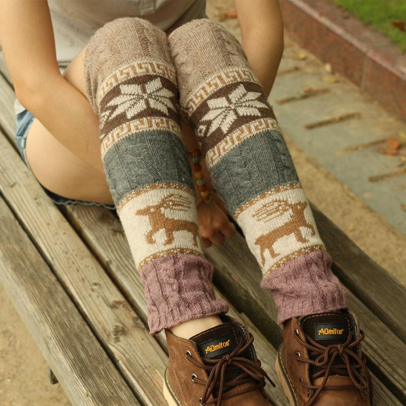 Deer Snow Gaiter Boot Sock Leg Warmer