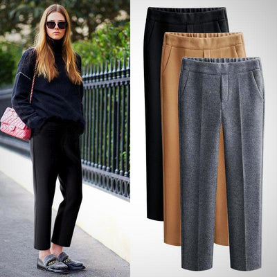 Woman Plus Size Pantalon Harem Pant Black Grey Khaki