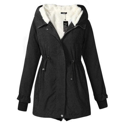 Plus Size Casual Cotton Winter Parka