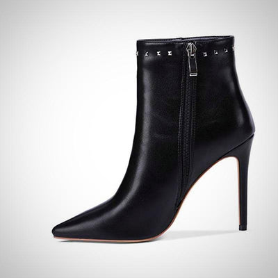 Winter Sexy High Heels Ankle Rivet Boot