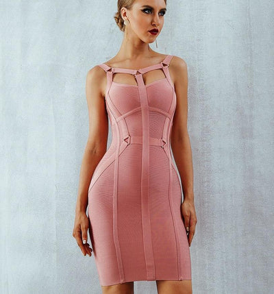 Stylish Bodycon Runway  Bandage Dress
