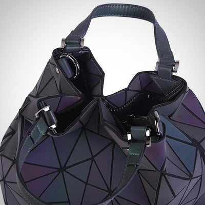 Luxurious Geometric Quilted Tote Handbag