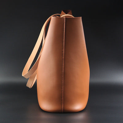 Cowhide Calf Leather Oxidized Tote Handbag
