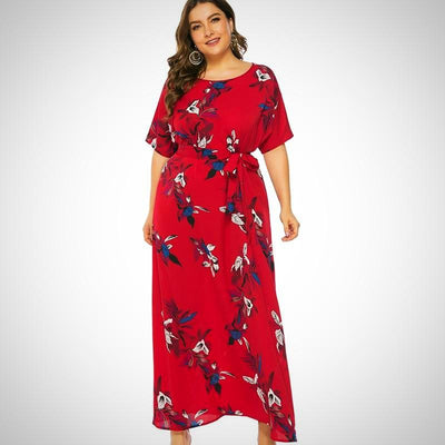 Plus Size Long Chiffon Boho Beach Elegant Dress