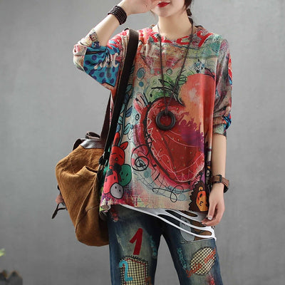 Spring Tops Pattern Ladies Sweater