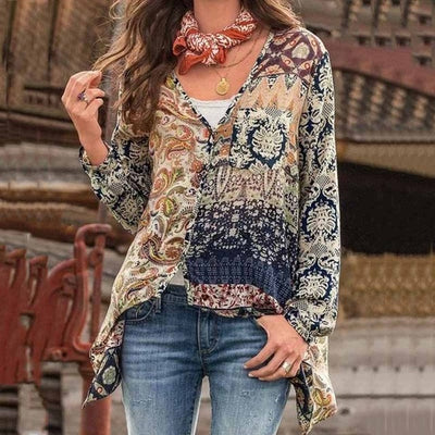 PLUS SIZE VINTAGE BOHO TOP