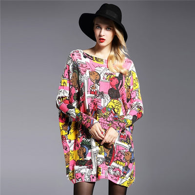 Stylish Long Sleeve Patterned Pullover