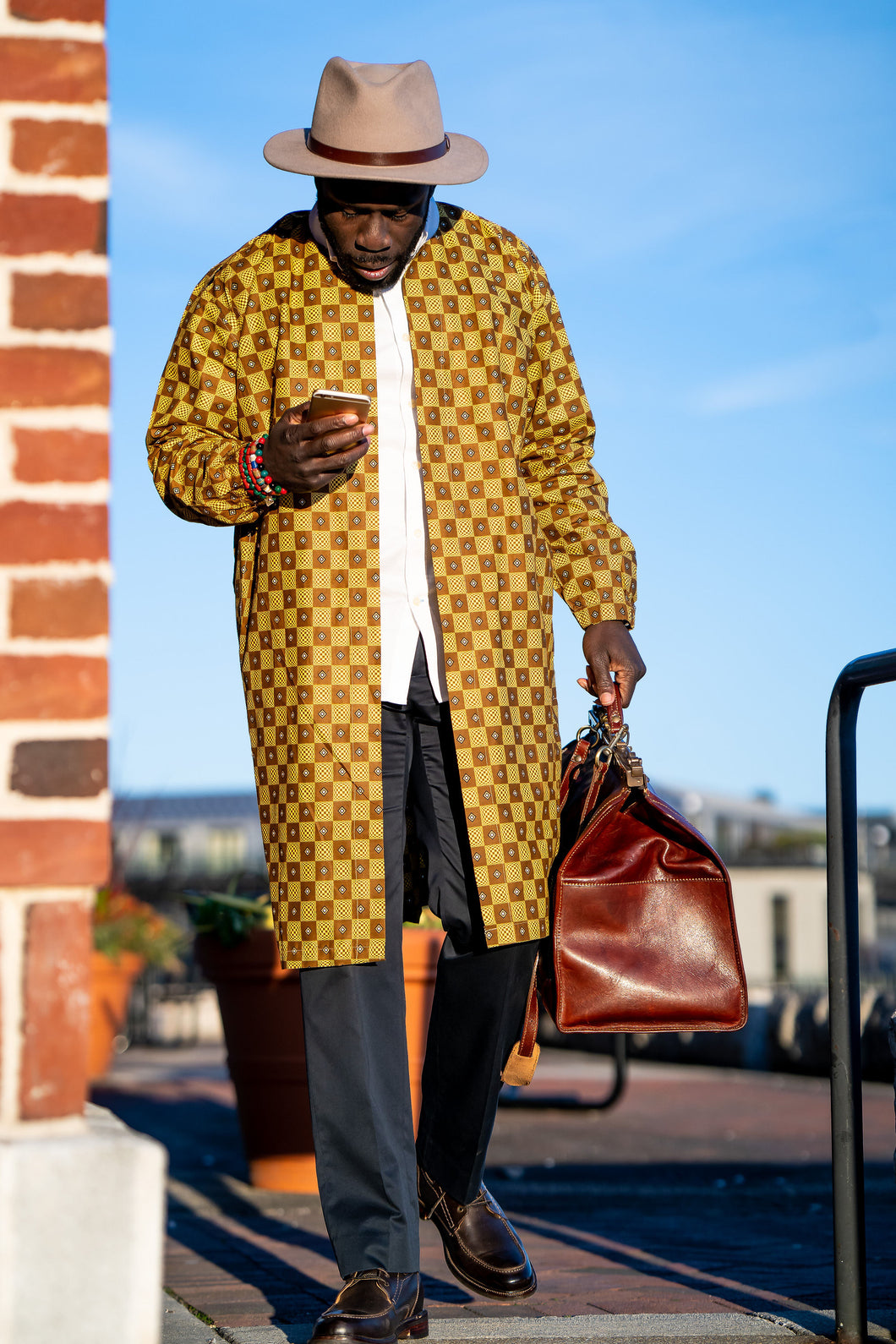 AdeBayo (The crown met with happiness) - (Brown/Yellow)
