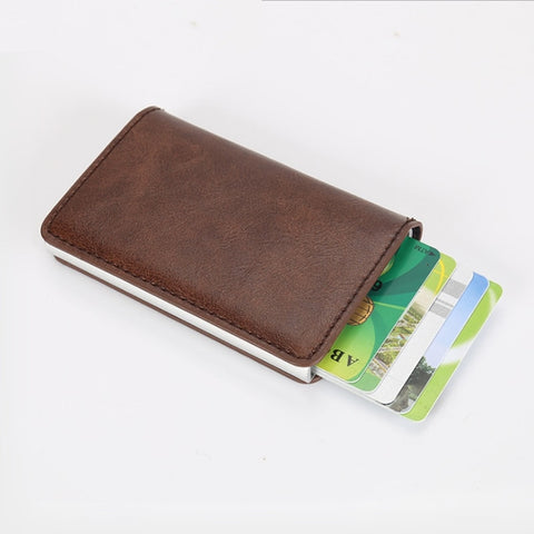 RFID Sliding Cover Wallet