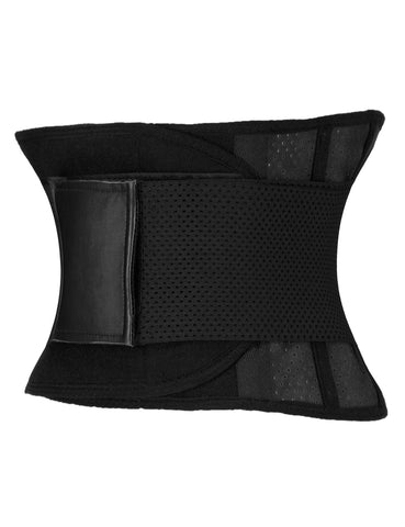 WORKOUT WAIST BELT BLACK BREATHABLE LIGHTWEIGHT