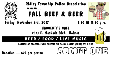 Ridley Township Police Assoc Beef and Beer