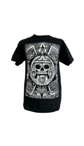TONATIUH ROQUERO aztec print on cotton crew neck tshirt