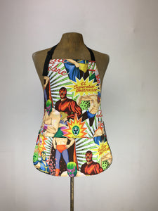 Lucha Libre large print handcrafted double sided apron