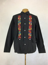 Long sleeve linen Guayabera Ejecutiva - Black