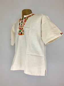 Handcrafted cotton traditional Cuzcatlán tunic top vibrant colors