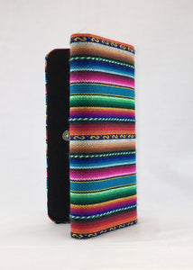 Turquoise manta inca handcrafted checkbook style wallet