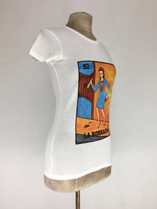 Loteria tee La Borracha tank top white