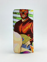 Lucha libre inspired handcrafted checkbook style wallet