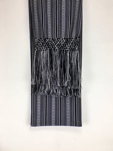 MANTA INCA handcrafted rebozo black and white