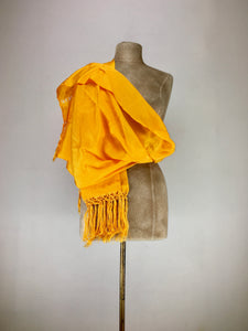 Mexican traditional silk rebozo - marygold