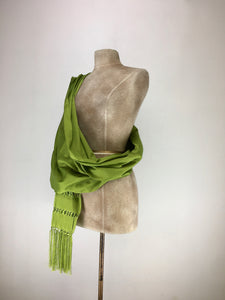 Mexican traditional silk rebozo - light green