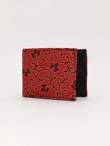 BANDANA floral print handcrafted billfold wallet