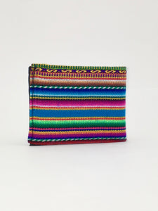 Turquoise Manta Inca  woven colorful textile handcrafted billfold wallet