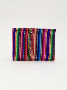 Purple Manta Inca woven textile handcrafted billfold style wallet