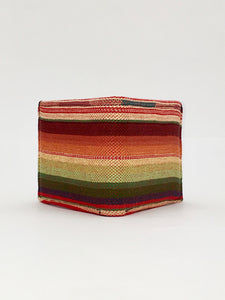 Red sarape woven textile handcrafted billfold wallet