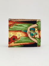 Frida and parrot print handcrafted billfold wallet