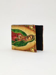 Guadalupe print handcrafted checkbook wallet