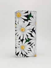 Daisy floral print handcrafted checkbook wallet