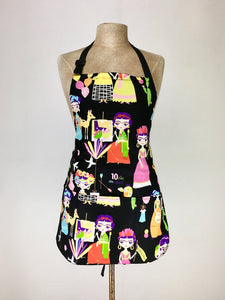 Frida Kahlo cartoon print handcrafted double sized apron