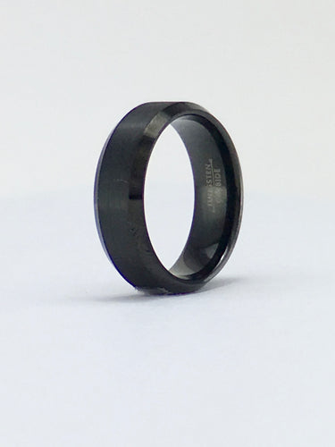 Flat black tungsten band TR166 8mm