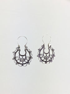 Starfish vintage style hoop earrings