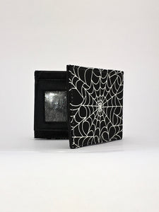 Spider man Venom black spiderweb print handcrafted billfold wallet