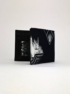 Wonder Woman black print handcrafted billfold wallet