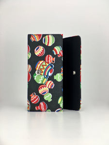 Cantaritos Native American pottery black print handcrafted checkbook wallet