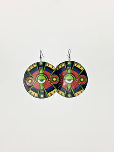 Ollin shell dangle statement earrings