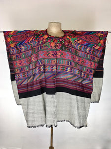 Traditional Coban Guatemala Huipil one of a kind vintage Mayan Textile