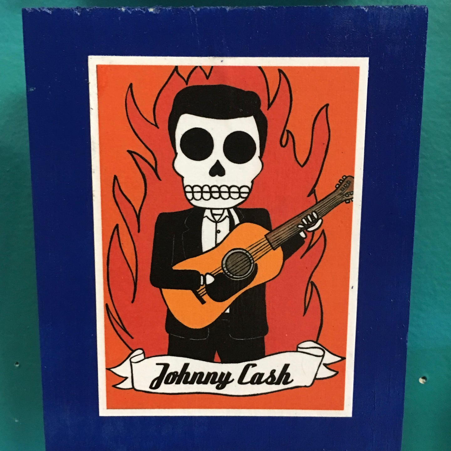 Los Musicians Johnny Cash collectible art tile by Ninoska Arte