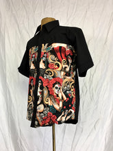 Catrinas Day of the dead short sleeve oxford shirt