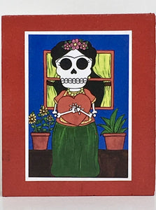 Frida's Hug collectible art tile by Ninoska Arte